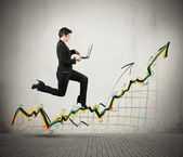 Growth and success in business — Stock Photo