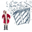 Stock Photo: Child dreams christmas gifts
