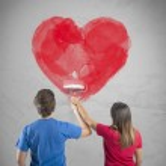 Romantic heart couple — Stock Photo