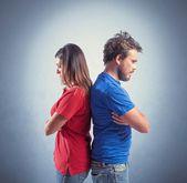 Couple fighting — Stock Photo