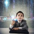 Young boy looking for malicious code — Stock Photo #39681557