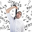 Tax and crisis problem — Stock Photo #40341787