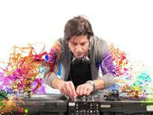 DJ playing music — Stock Photo