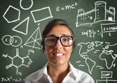 Genius teacher — Stock Photo