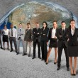 Global support team — Stock Photo