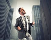 Concept of success of a winner businessman — Stock Photo