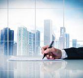 Zakelijk contract — Stockfoto