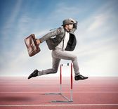 Jumping obstacle — Stock Photo