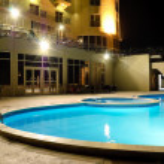 SPA swimming pool in night illumination — Stock Photo #1264147