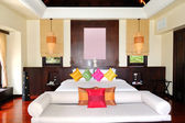 Villa interior at the luxury hotel, Phuket, Thailand — Foto Stock