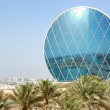 The luxury hotel and circular building, Abu Dhabi, UAE — Stock Photo #12685305