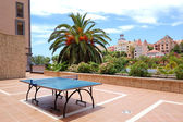 Ping-pong table at luxury hotel, Tenerife island, Spain — Stock Photo
