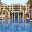 Stock Photo: Swimming pool of the luxury hotel, Saadiyat island, Abu Dhabi, U