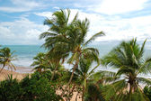 Beach and turquoise water of Indian Ocean, Bentota, Sri Lanka — Stock Photo