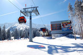 JASNA-MARCH 15: Cableway station in Jasna Low Tatras. It is the — Stock fotografie