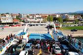 KERAMOTI, GREECE - APRIL 29: The Thassos ferry going to Thassos — Stock Photo
