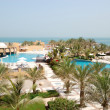 Stock Photo: Recreation areof luxury hotel with swimming pools, Ras Al Khai