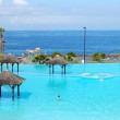 Swimming pool with jacuzzi and beach of luxury hotel, Tenerife i — Stock Photo