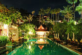 Night illumination at luxury hotel, Phuket, Thailand — Stock Photo