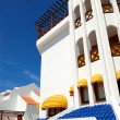 Building with terrace of luxury hotel, Tenerife island, Spain — Stock Photo