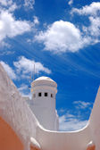 Building of the luxury hotel and blue sky with clouds, Tenerife — Stock Photo