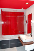 Bathroom interior in the luxury hotel at ski resort, Jasna, Slov — Stock Photo