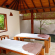 SPA massage beds at luxury hotel, Bentota, Sri Lanka - Zdjęcie stockowe