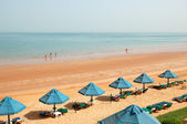 The beach of luxury hotel, Ras Al Khaimah, UAE — Stock Photo