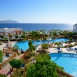 The beach with swimming pools at luxury hotel, Sharm el Sheikh, - Stock Photo