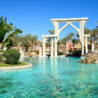 The swimming pool at luxury hotel, Sharm el Sheikh, Egypt - Stock Photo