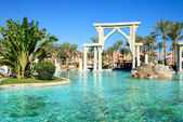 The swimming pool at luxury hotel, Sharm el Sheikh, Egypt — Stock Photo