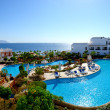 Panorama of the beach at luxury hotel, Sharm el Sheikh, Egypt - Stock Photo