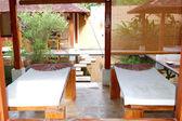 高級ホテル, ベントタ, スリランカで屋外ジャグジー付きのスパ — ストック写真