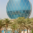 The luxury hotel and circular building, Abu Dhabi, UAE — Stock Photo #19177629