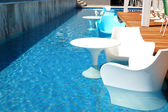 Swimming pool near bar at the modern luxury hotel, Pieria, Greec — Stock Photo