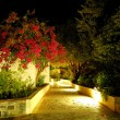 Royalty-Free Stock Photo: Illuminated path at luxury hotel, Crete, Greece