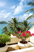 Terrace with sea view at luxury hotel, Phuket, Thailand — Stock Photo