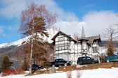 The luxury villa at Strbske Pleso ski resort, High Tatras, Slova — Stock Photo