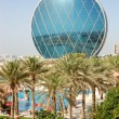 The luxury hotel and circular building, Abu Dhabi, UAE — Stock Photo #21453915
