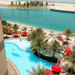 Stock Photo: Beach of luxury hotel, Abu Dhabi, UAE