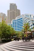 Outdoor-bar und bau von luxushotels, jumeirah, dubai, vereinigte arabische emirate — Stockfoto