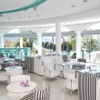 Modern restaurant at the luxury hotel, Thassos island, Greece - Stock fotografie