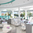 Modern restaurant at the luxury hotel, Thassos island, Greece - Lizenzfreies Foto