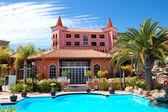Swimming pool near restaurant at luxury hotel, Tenerife island, — Stock Photo