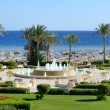 The fountain near beach at the luxury hotel, Sharm el Sheikh, Eg - Stock Photo