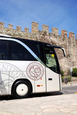 THESSALONIKI CITY, GREECE - APRIL 25: The modern bus for tourist — Stock Photo