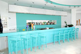 Modern bar interior at the luxury hotel, Thassos island, Greece — Stock Photo