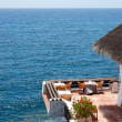 Stock Photo: Open-air restaurant with a view on Atlantic Ocean, Tenerife isla