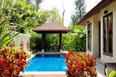 Swimming pool at the luxury villa, Phuket, Thailand — Stock Photo