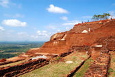 The view from Sigiriya (Lion's rock) is an ancient rock fortress — Stockfoto